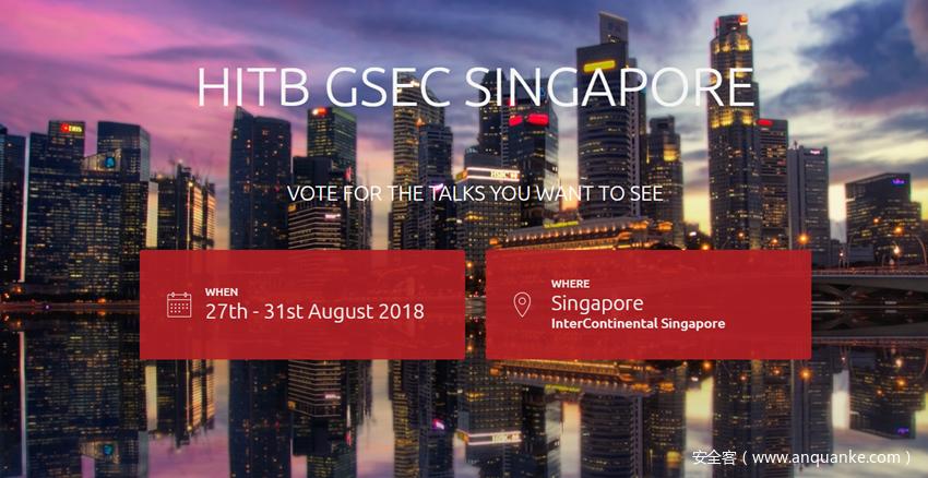 2018年HITB GSEC新加坡安全大会