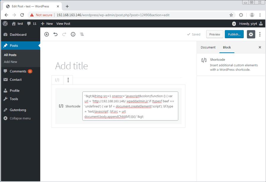WordPress存储型XSS漏洞分析